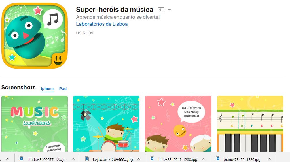 Super Heróis da Música Para IOS