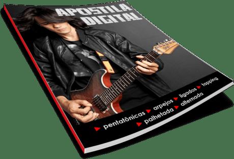 Bônus da apostila digital do curso de guitarra online - Curso Ozielzinho Kit Técnica De Guitarra Rock 2.0 Online