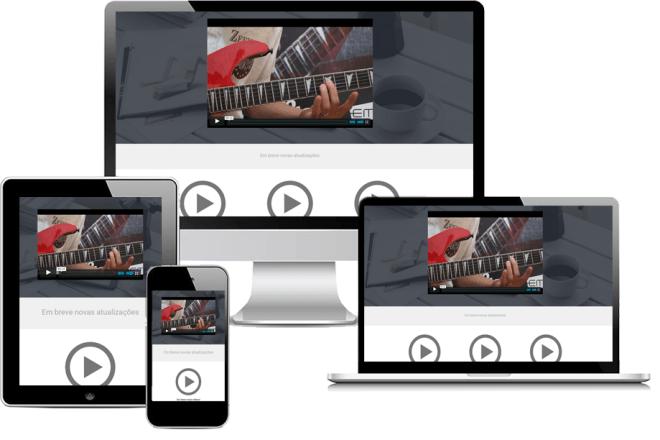 Imagem que mostra uma aula de arpejos de guitarra rock