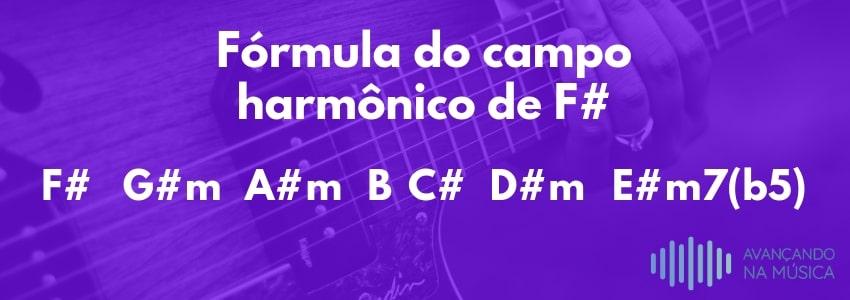 desenho da fórmula do campo harmônico de fá sustenido