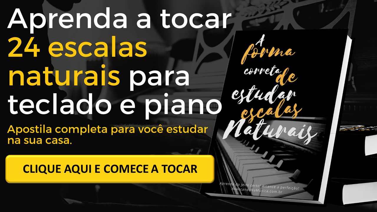 Aprender a tocar Escalas para teclado e piano