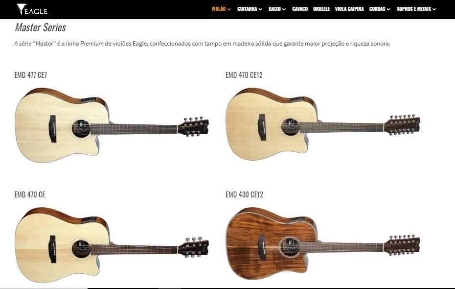 Modelos Folk de violões