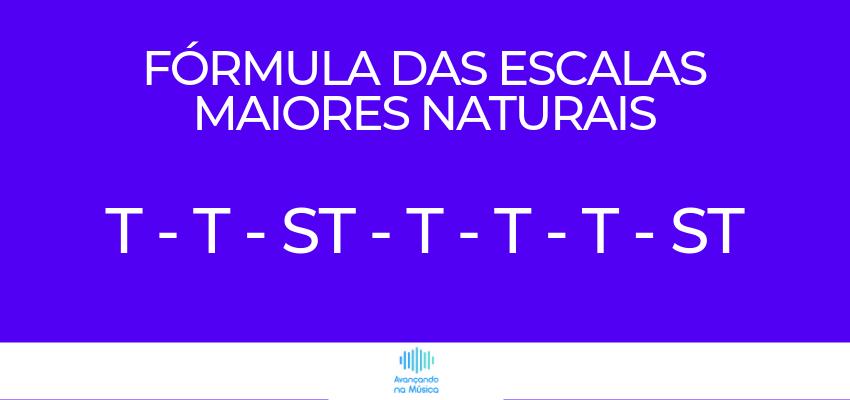 Fórmula da Escala Maior Natural com Tom e Semitom