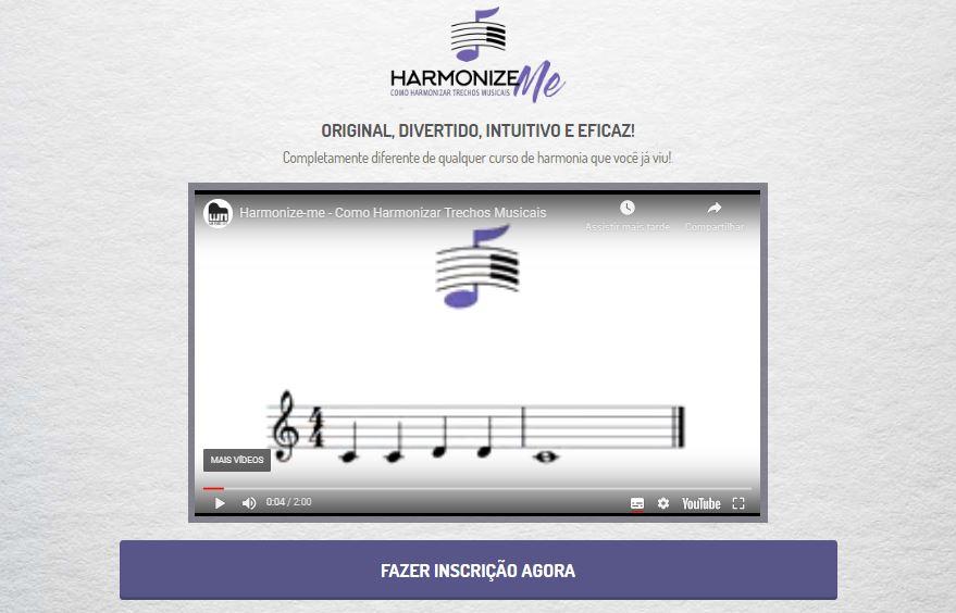 Imagem da página do curso de harmonia