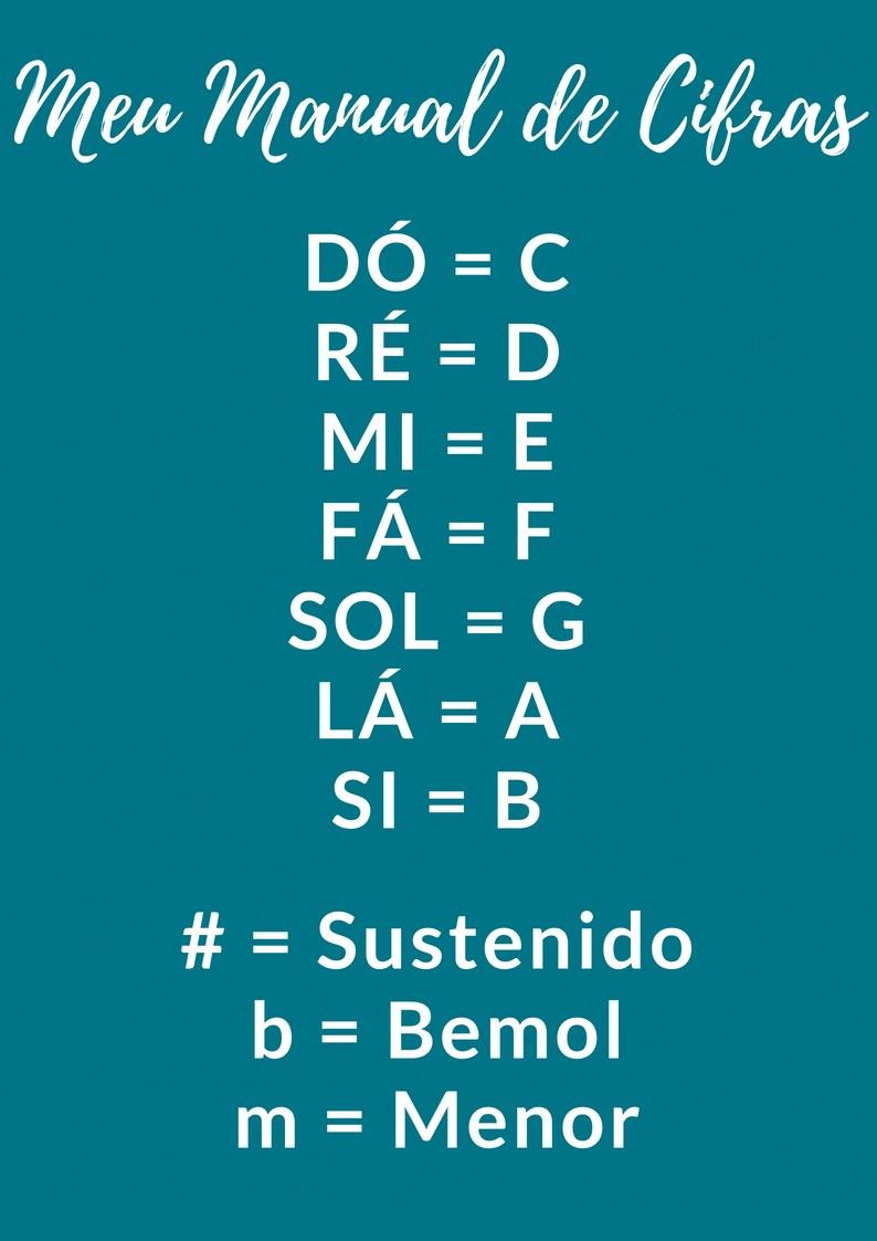 Manual com a notação musical de cifras