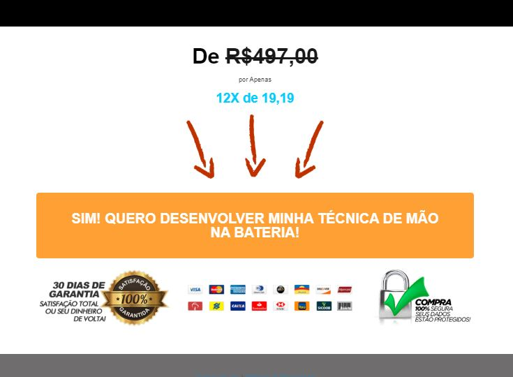 Tela do site do curso monster batera