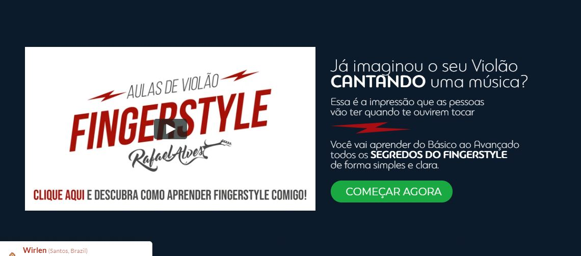 Curso Online Aulas de Violão FingerStyle Rafael Alves