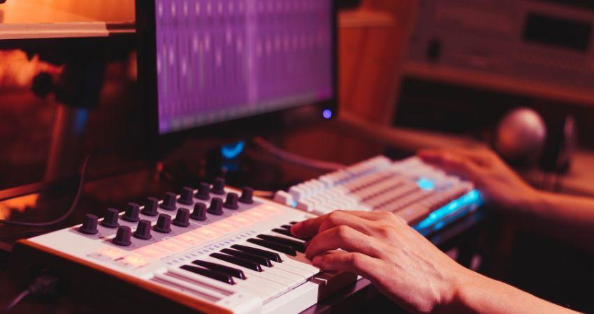 Intervalos musicais no teclado